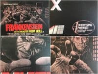 Frankenstein And The Monster From Hell LINEN BACKED UK Quad Film Poster (1974)  (Peter Cushing)